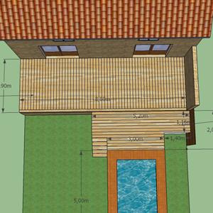 Plans 3D de la terrasse