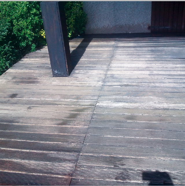 Surface de la terrasse à rénover