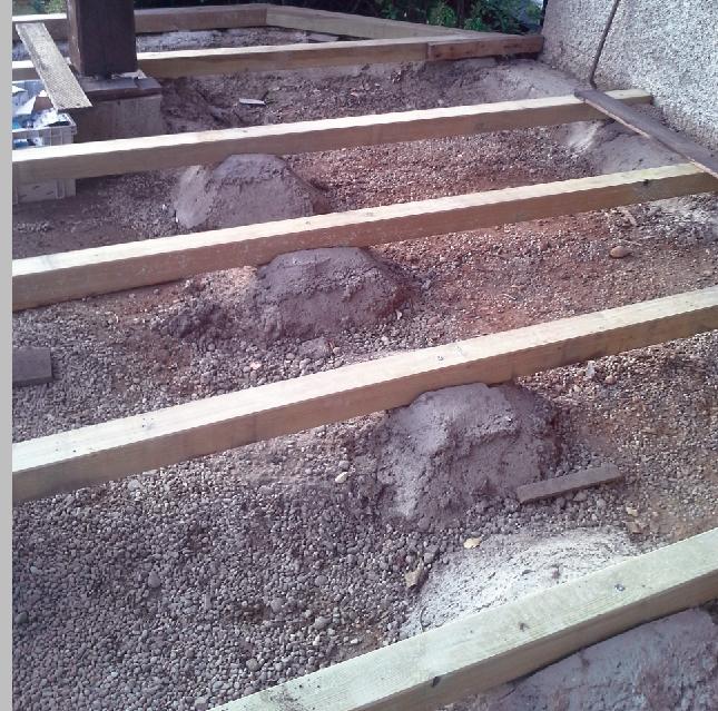 Dépose des lames et structure de la terrasse changée