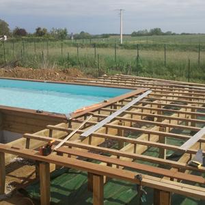 Structure de soutien de la terrasse